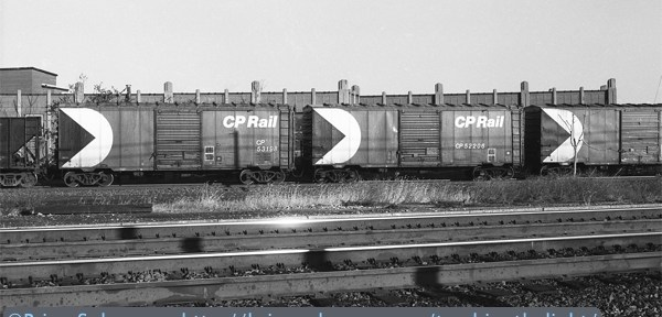 Canadian Pacific 40-foot Boxcars on the Roll.