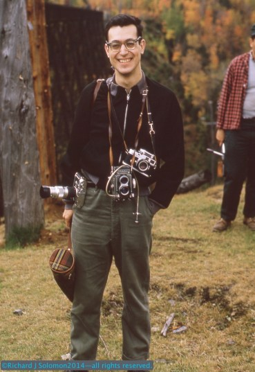 Richard in eastern Pennsylvania in October 1964. He's sporting two Leica Ms, including one with 135mm telephoto, and a Rollieflex Model T (Which I wore out, but eventually replaced).