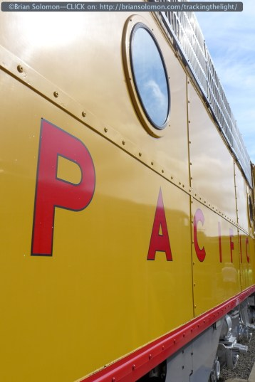 Union Pacific E9 949 had come a long way for the event and was looking well polished. LX7 Photo.