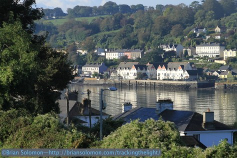 Looking across Cork harbour toward Passage West, which was served by a narrow gauge suburban line until the 1930s. Canon EOS 7D photo.