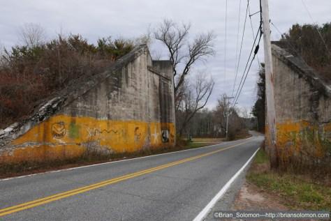 LX100 view of the old Hamden Railroad abutments near Three Rivers, Massachusetts.
