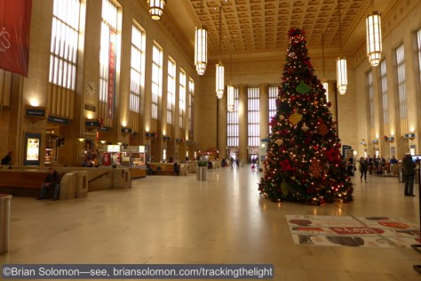 Philadelphia 30th Street Station this morning, December 17, 2014.