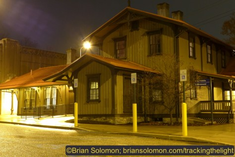 Former Pennsylvania Railroad station at Overbrook, Pennsylvania. LX7 photo, exposed at ISO 80 f3.2 at 2.5 seconds.