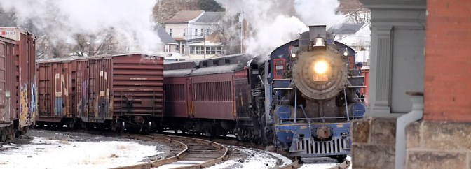 Happy Christmas from Tracking the Light: Doubleheaded Steam.