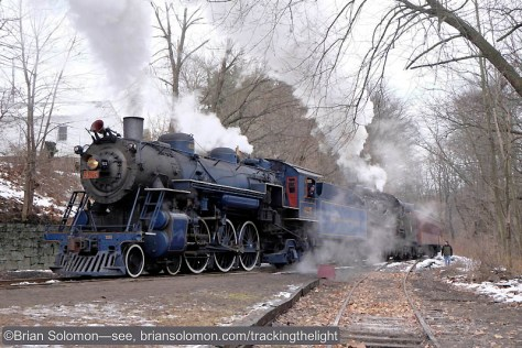 Santa Train at Minersville, Pennsylvania. Exposed with Fuji X-T1 with 18-55mm lens.