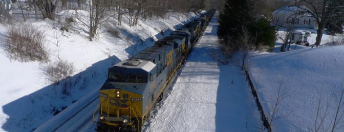Lots of Locomotives at East Brookfield Four Years Ago Today.