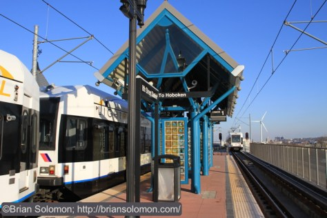 The 8th Street Station is located at the south end of the system in Bayonne. Canon EOS 7D photo.