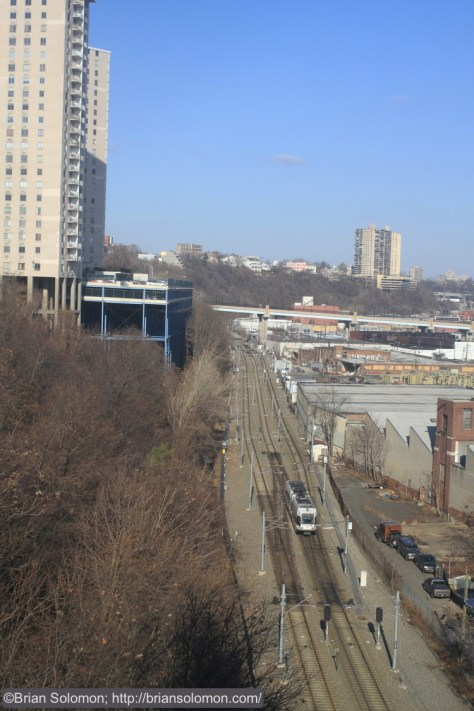 A view looking back toward Weekhawken. As a kid I was fascinated by the Palisades.