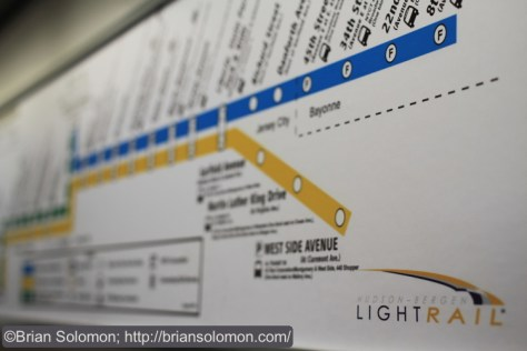 This simplified map of the system is posted in all of the cars. Canon EOS 7D photo.