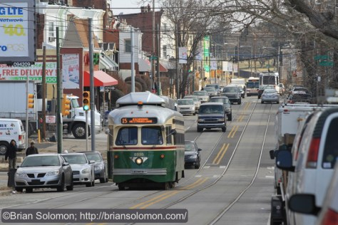 A view looking east on Girard Avenue. Canon EOS 7D with 200mm lens.