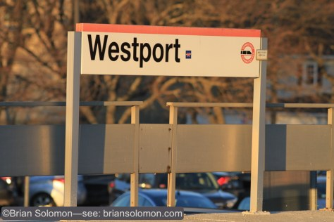 The front lit sign at Westport made for a good place to make a test exposure. Canon EOS 7D with 200mm lens. ISO 200, f4.0 at 1/640th of a second. White balance set at daylight.