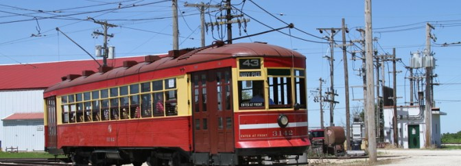 Chicago Transit Authority Trolley and Substation.