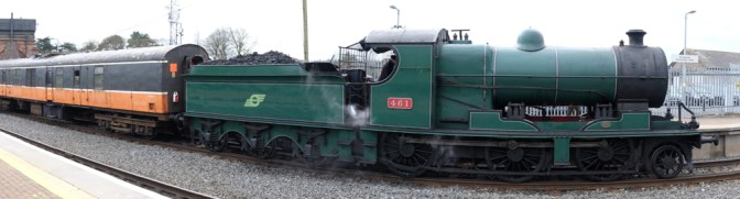Tracking the Light Special: Steam Locomotive Panorama.