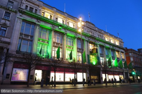 Clery's on O' Connell Street, Dublin. Lumix LX-7 photo.