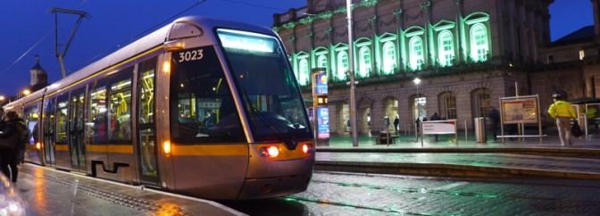 Dublin Heuston Station Green for St. Patrick's Day