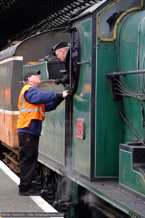 RPSI staff discuss operations at Connolly Station.