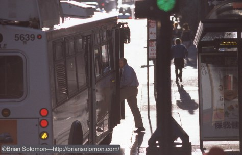Bus photo by B.D. Solomon. Exposed with a camera. & etc.
