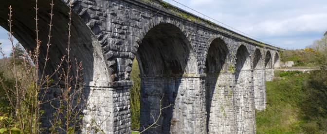 On the Roll with Irish Rail's Kilnap Viaduct—three photos.
