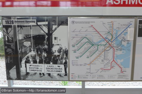 Station sign at Ashmont. Lumix LX7 photo.