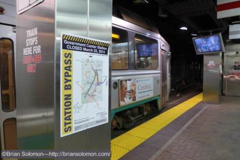 Green Line station at Park Street in Boston. Exposed with a Panasonic Lumix LX7.