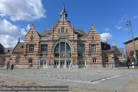 Restored railway station at Schaerbeek/Schaarbeek in Brussels, Belgium. Exposed with a Lumix LX7.