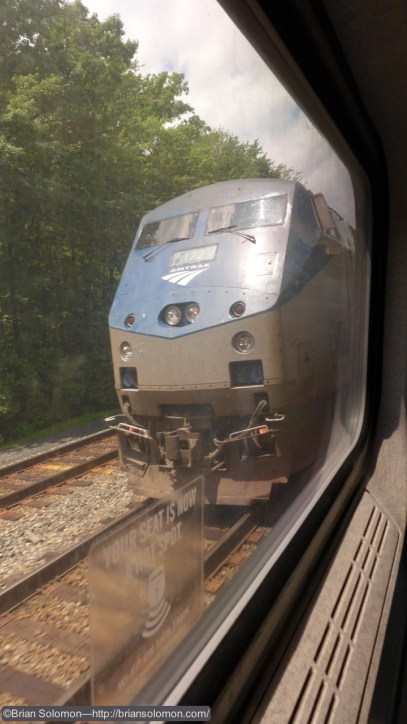 Passing Amtrak P42 number 172 on the old RF&P.