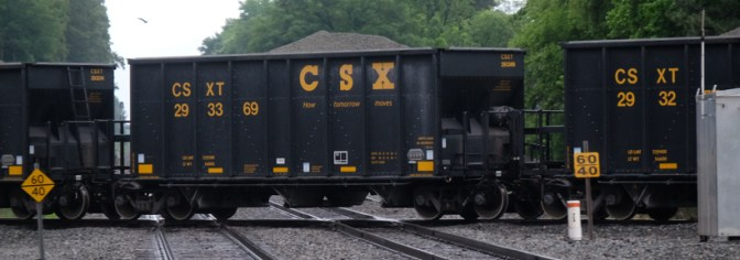 CSX Sand Cars Cross the old RF&P at Doswell, Virginia.
