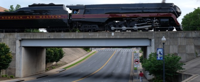 Norfolk & Western 611 and its 18 car consist—June 7, 2015 in 20 Photographs!
