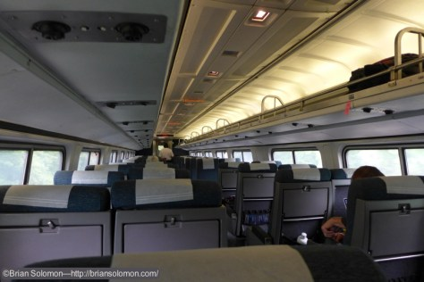 Old school Amfleet; rock solid and comfortable, but the windows are kind of small. Standard Amtrak equipment.