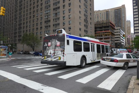 SEPTA's 38 bus, which is how I reached Center City, Philadelphia today. Lumix LX photo.