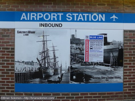 History lessons are on display at many Blue Line stations.