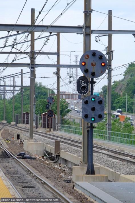 Signals at Secaucus Junction.