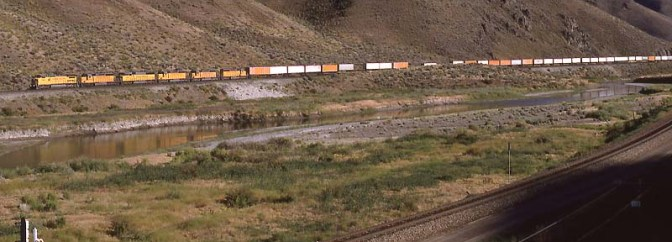 Union Pacific at Palisade Canyon—22 years ago today.