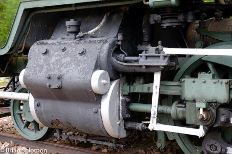 Detail of the cylinder and valves on the Danish built class Tk3.