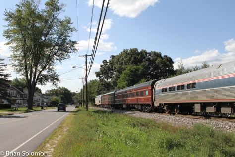 Amtrak 56 at Three Rivers with Pennsylvania Railroad passenger cars. Exposed using a Canon EOS 7D.