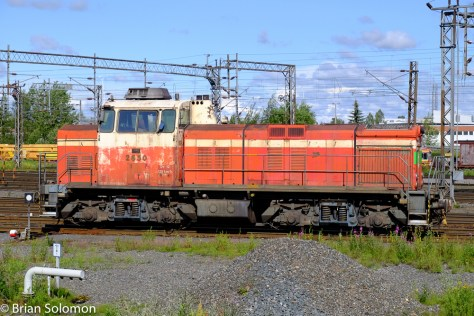 A VR Class Dv12 at the yard in Oulu, Finland. Well-worn, but still working! Exposed with my FujiFilm X-T1 digital camera.