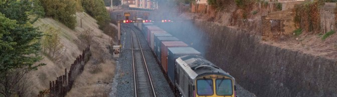 Tracking the light EXTRA: Irish Rail 233 works IWT on evening path