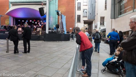 A bit of music at Meeting House Square, Temple Bar.