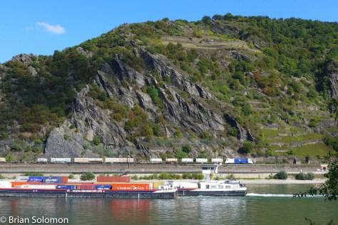Southward freight near St. Goarhausen, Germany, September 10, 2015.