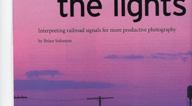 Brian Solomon's 'Reading the Lights' featured in January 2016 TRAINS