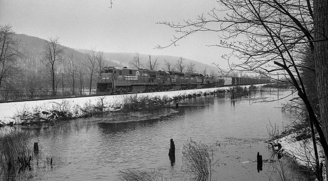 On the Erie—Off Season Snow at Swain, New York.
