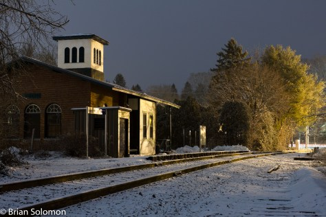 It was on a snowy evening nearly three years ago that I used my Canon EOS 7D to expose this image of the old New London Northern station at Amherst, Massachusetts.