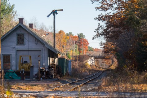 The old Boston & Maine station at Holden is a reminder of earlier times. Exposed with a FujiFilm X-T1 digital camera.