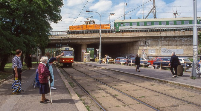 Railways Under and Over; Tram and Train, Prague 2000.