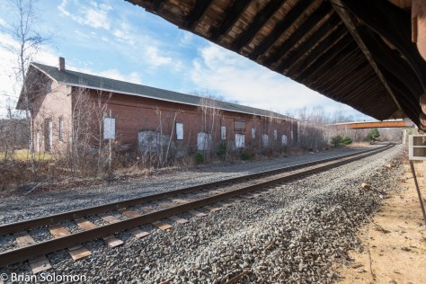 Old Western Rail Road freight house at West Brookfield.