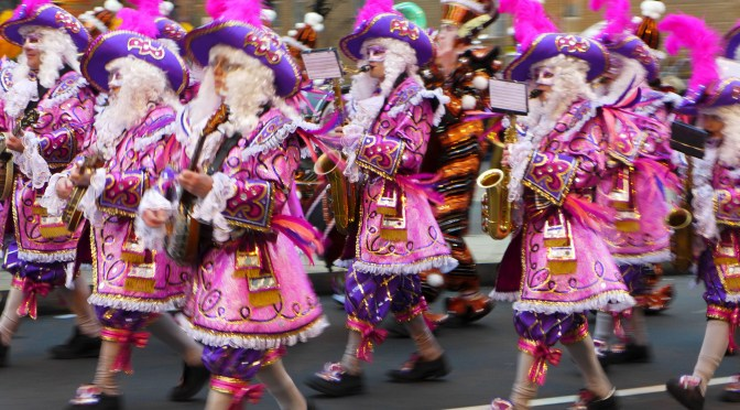 Philadelphia's Mummers Parade, 1 January 2016.
