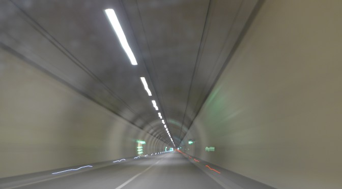 Tracking the Light in an Alpine Tunnel.