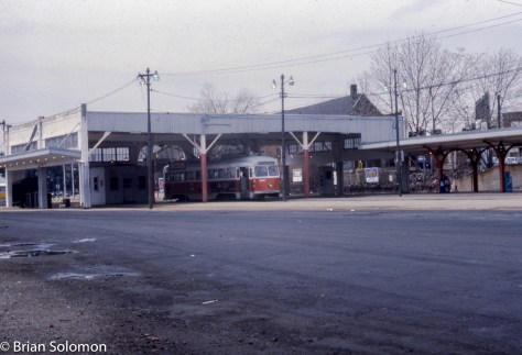 Since my 1979 visit MBTA eliminated the classic trolley shelter at Mattapan and sent many of the double-ended cars to the scrapper.