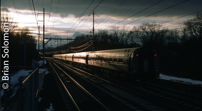 Amtrak 137 Catches the Glint at West Haven.
