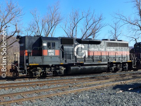 Who would have thought a high-hood GP40 would be working the old North Adams Branch! This was once the territory of Alco road switchers. Exposed with a Lumix LX-7.